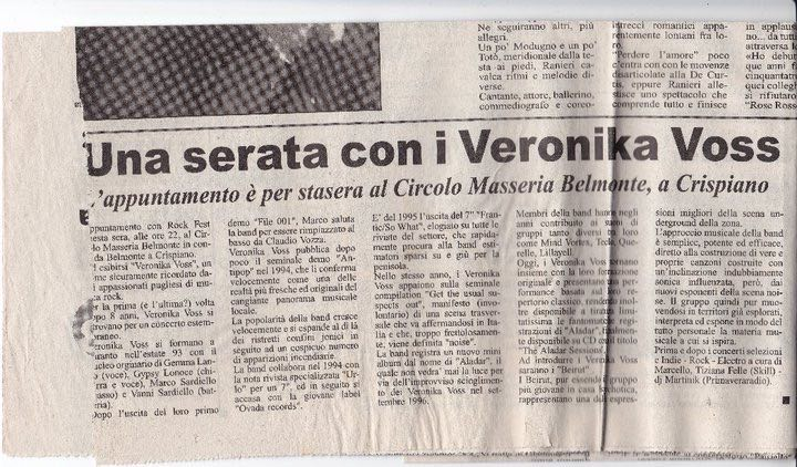 Articolo Veronika Voss