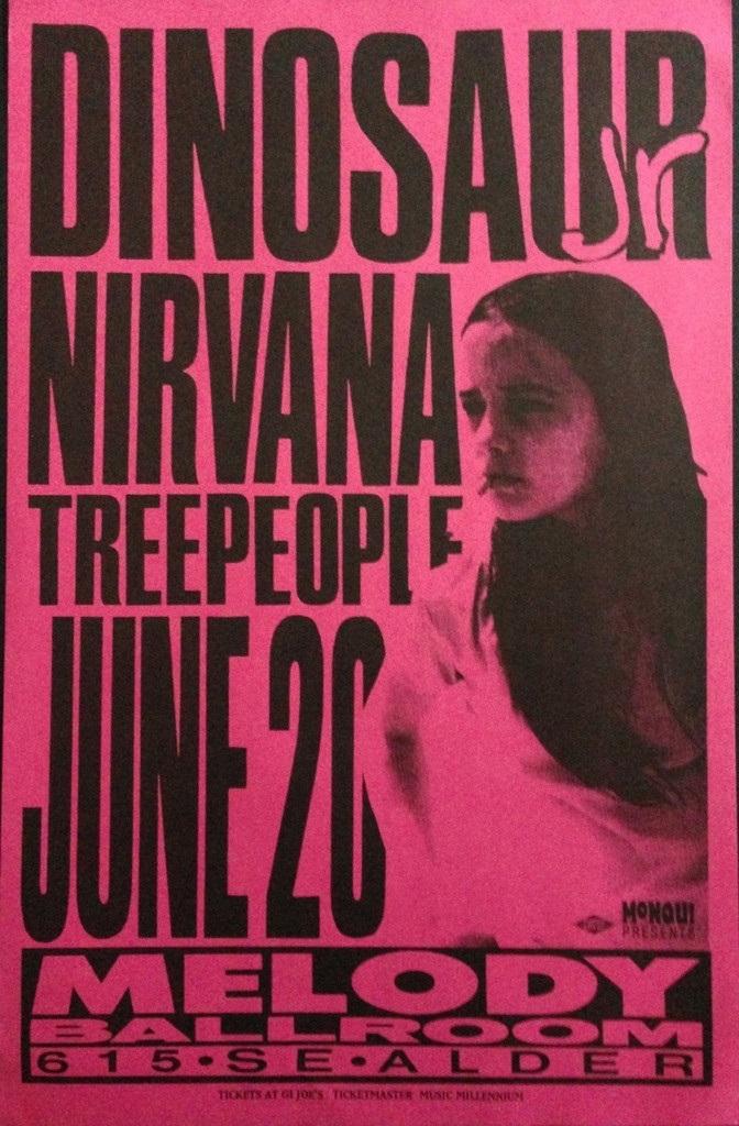 Dinosaur Jr, Nirvana, Treepeople flyer